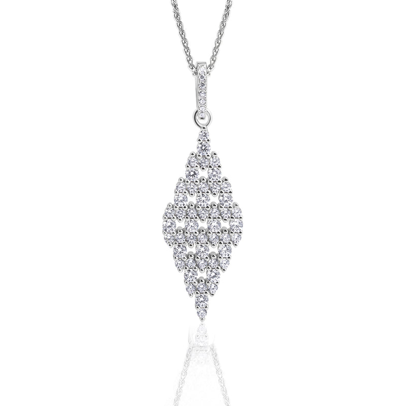 The Real Effect Diamond Shaped CZ Pendant RE47814