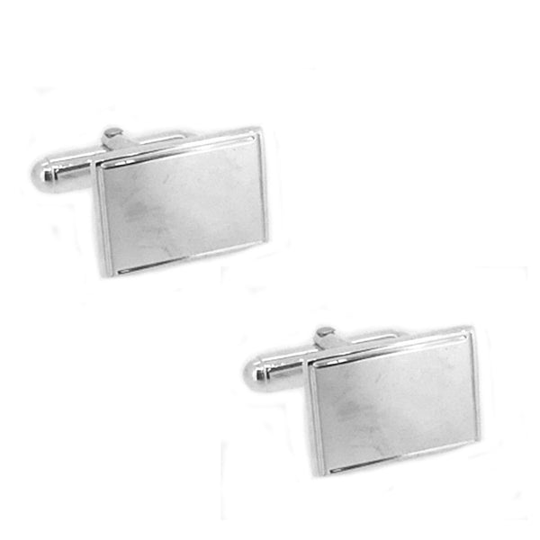 Sterling Silver Rectangular Cufflinks
