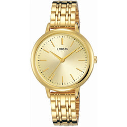 Lorus Ladies Gold Tone Bracelet Watch RG204QX9