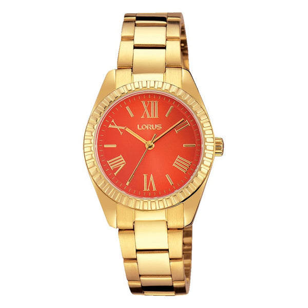 Lorus Ladies Stylish Gold Plated Bracelet Watch RG232KX9