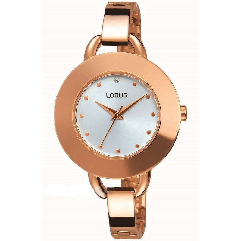 Lorus Ladies Rose Tone Bracelet Watch RG240JX9