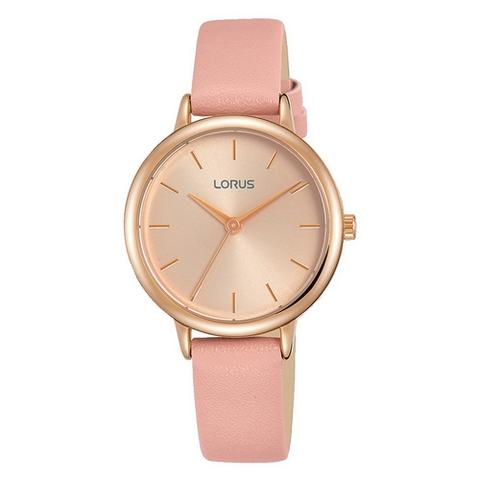 Lorus Ladies Classic Pink Strap Watch RG240NX9