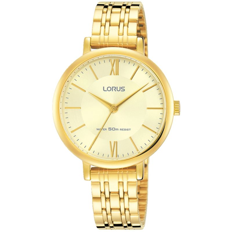 Lorus Ladies Gold Tone Bracelet Watch RG268MX9