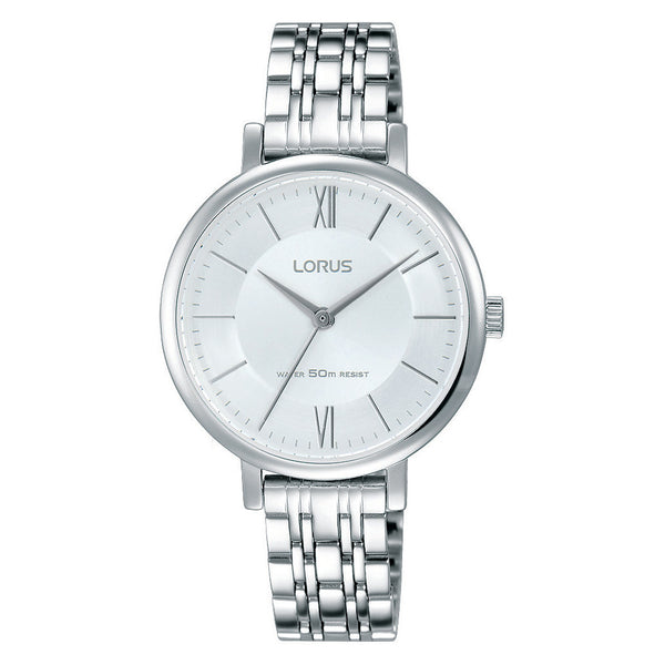 Lorus Ladies Silver Tone Bracelet Watch RG291LX9
