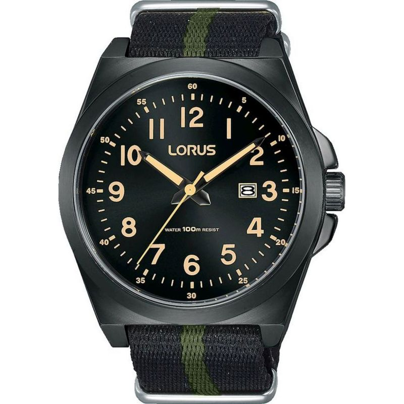 Lorus Men's Nato Strap Sports Watch RH939KX9