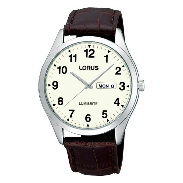 Lorus Men's Classic Strap Lumibrite Watch RJ645AZ9