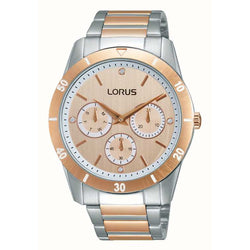 Lorus Ladies Oversize Two Tone Bracelet Watch RP602CX9