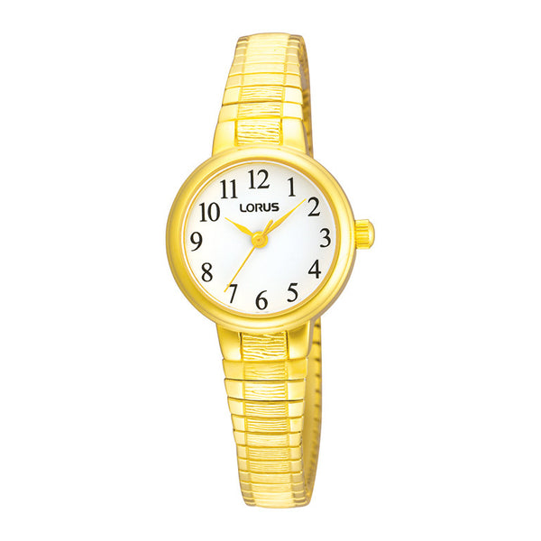 Lorus Ladies Gold Tone Expanding Bracelet Watch RG236NX9