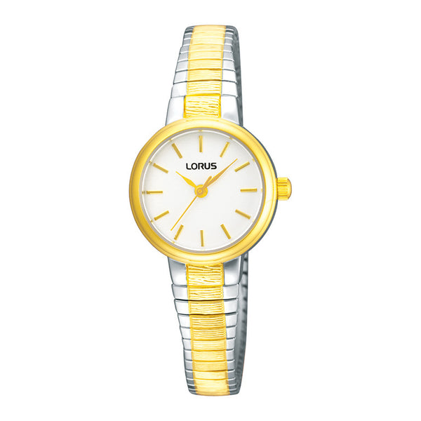 Lorus Ladies Two Tone Expanding Bracelet Watch RG238NX9