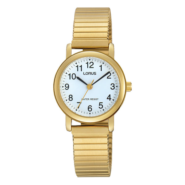 Lorus Ladies Gold Tone Expanding Bracelet Watch RRS78VX9