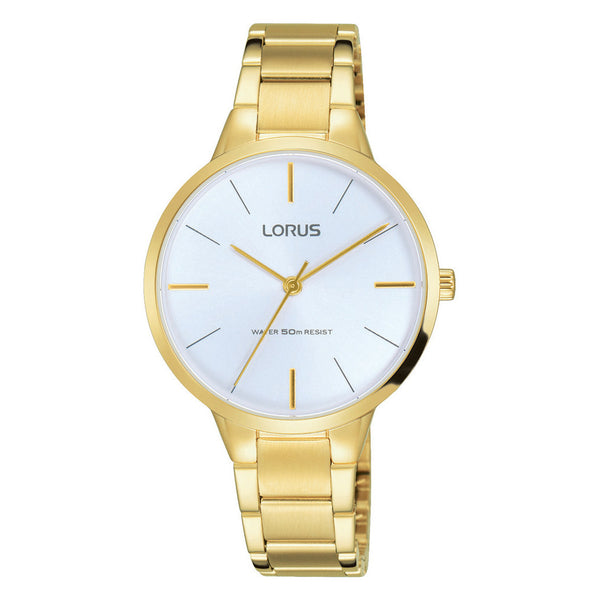 Lorus Ladies Gold Tone Bracelet Watch RRS98VX9