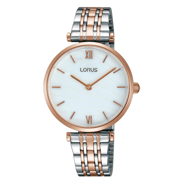 Lorus Ladies Two Tone Tapered Bracelet Watch RRW88EX9