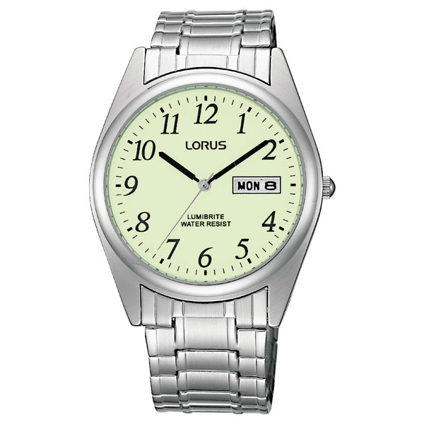 Lorus Men's Expanding Bracelet Lumibrite Watch RXN29BX9