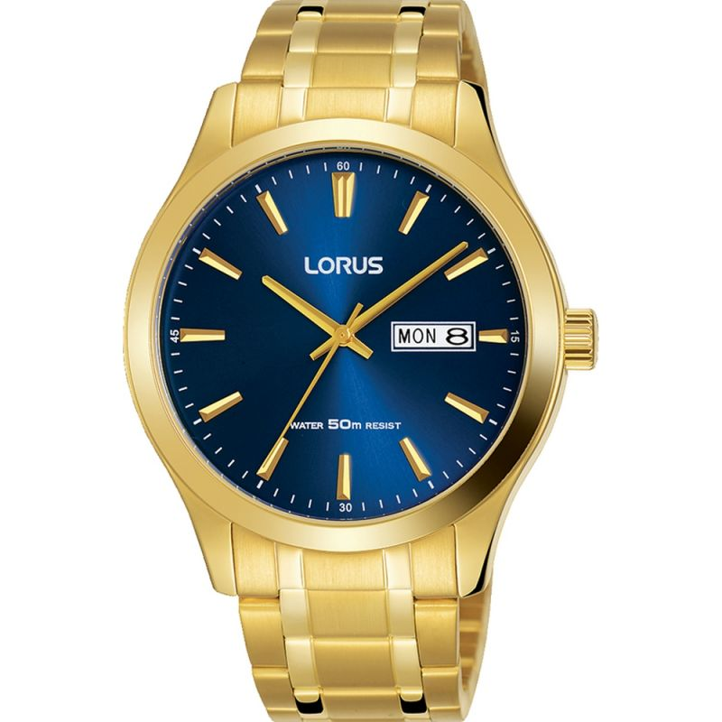 Lorus Men's Gold Tone Bracelet Watch RXN62DX9