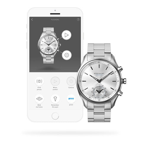 Kronaby Sekel 43mm Smart Hybrid Watch S0715/1 connected