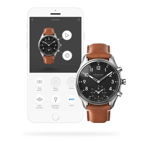 Kronaby Apex 43mm Smart Hybrid Watch S0729/1 CONNECTED