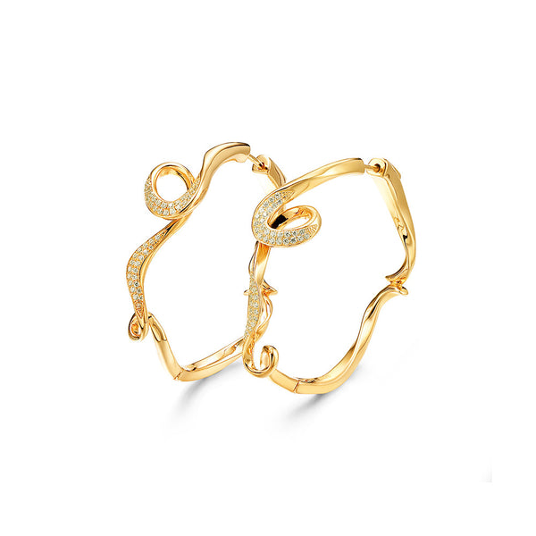 Fei Liu Serenity Small Hoop Earrings with Cubic Zirconia Stones