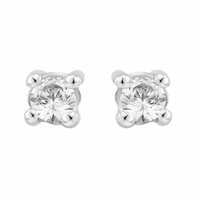 Diamond 0.15ct Stud Earrings 18ct White Gold