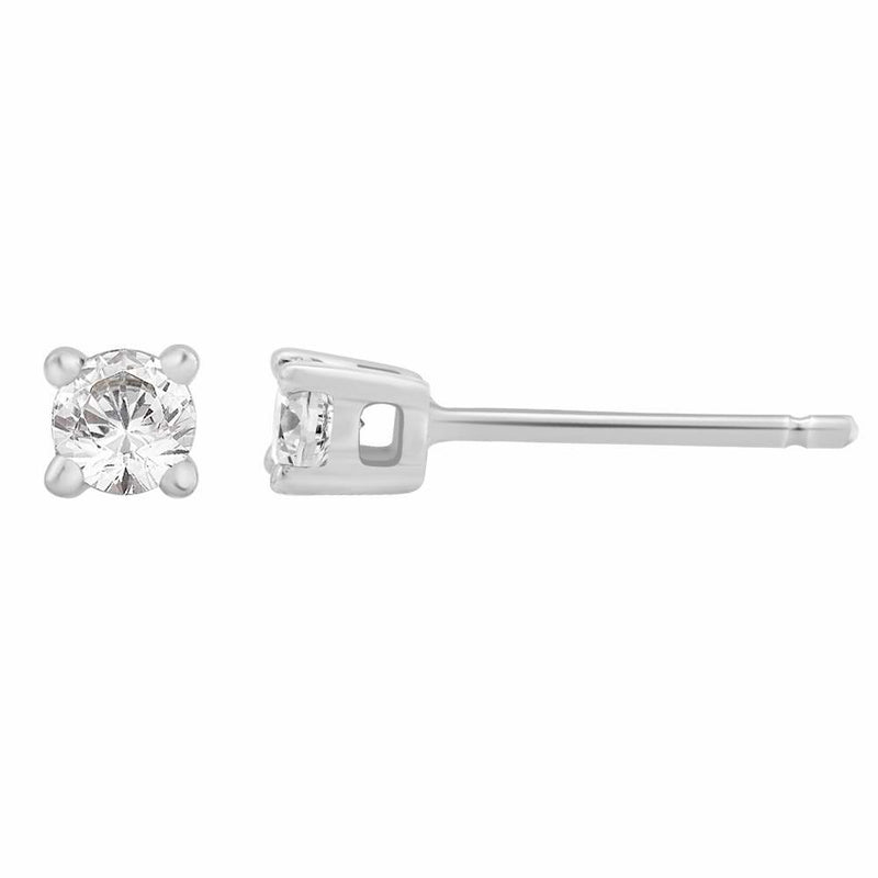 Diamond 0.25ct Stud Earrings 18ct White Gold