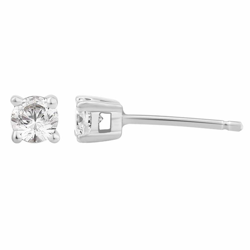 Diamond 0.30ct Stud Earrings 18ct White Gold