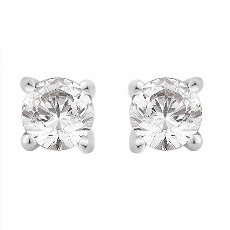 Diamond 0.50ct Stud Earrings 18ct White Gold
