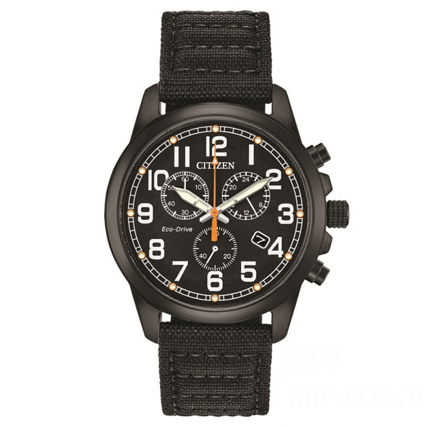 Citizen Eco Drive Men's Military Chronograph Watch AT0205-01E