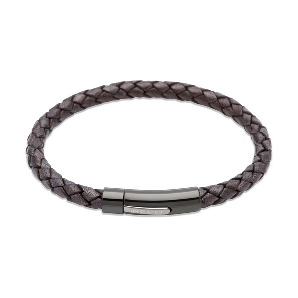 Unique & Co Mens Leather Bracelet B320ABL