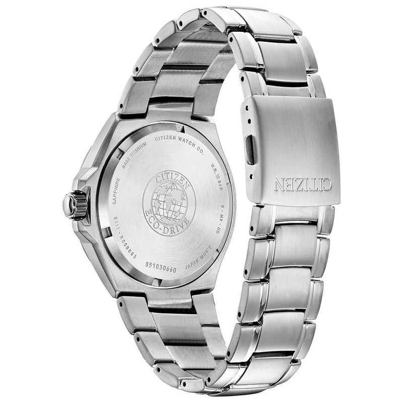 Citizen Mens Eco Drive Super Titanium Watch BM7431-51L back