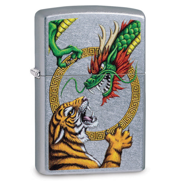 Zippo Chinese Dragon & Tiger Lighter