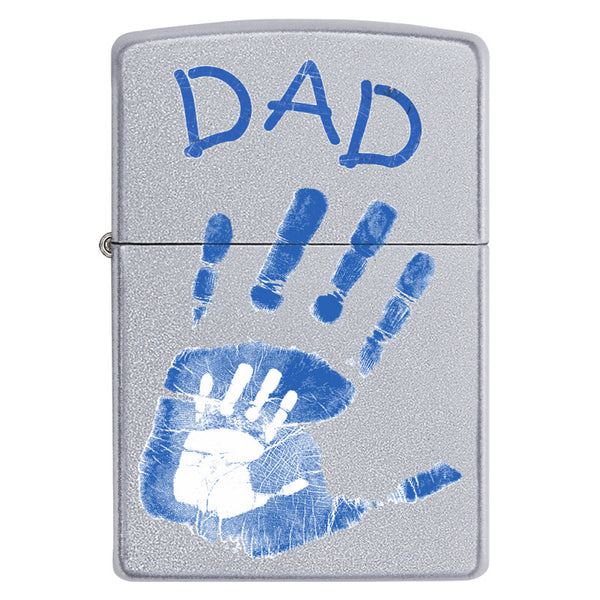 Zippo Dad Handprints Lighter
