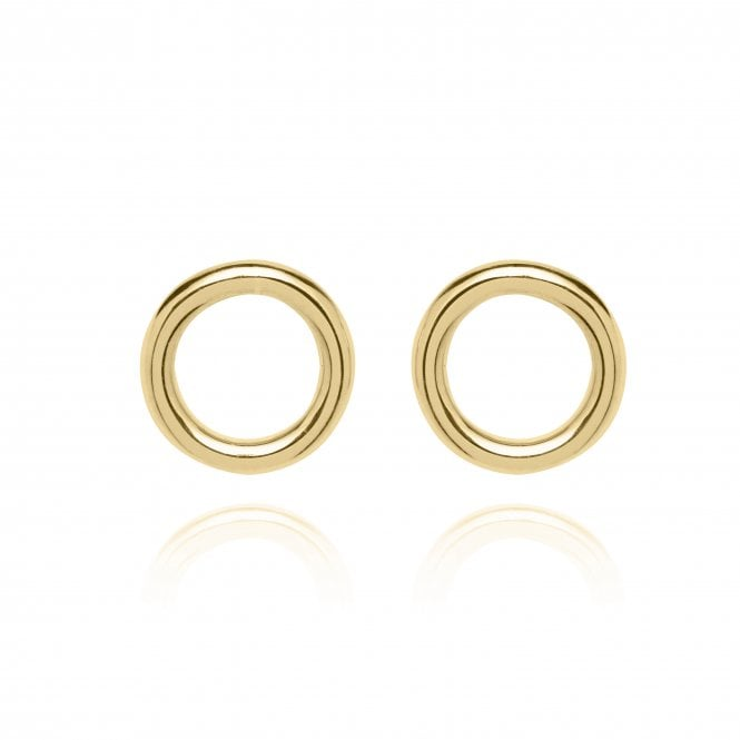 Unique & Co Gold Circle Earrings DE-25