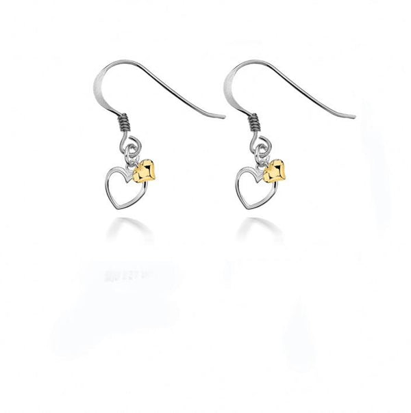 Dollie Jewellery Alicia Double Golden Heart Earrings E0022