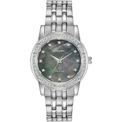 Citizen Ladies Eco Drive Silhouette Crystal Watch EM0770-52Y