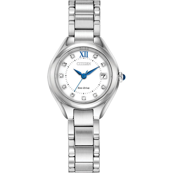 Citizen Ladies Eco Drive Silhouette Crystal Watch EW2540-83A