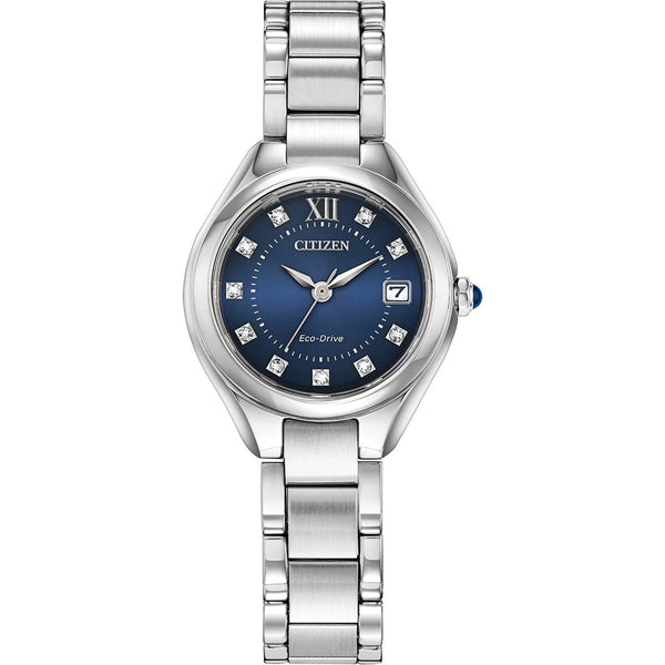 Citizen Ladies Eco Drive Silhouette Crystal Watch EW2540-83L