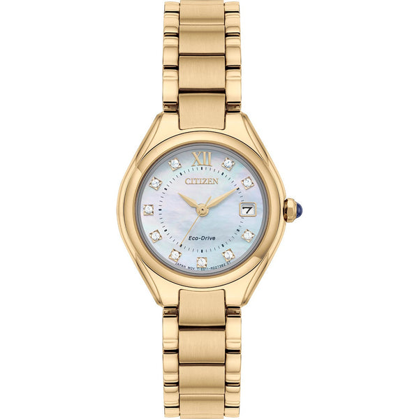 Citizen Ladies Eco Drive Silhouette Crystal Watch EW2543-85D