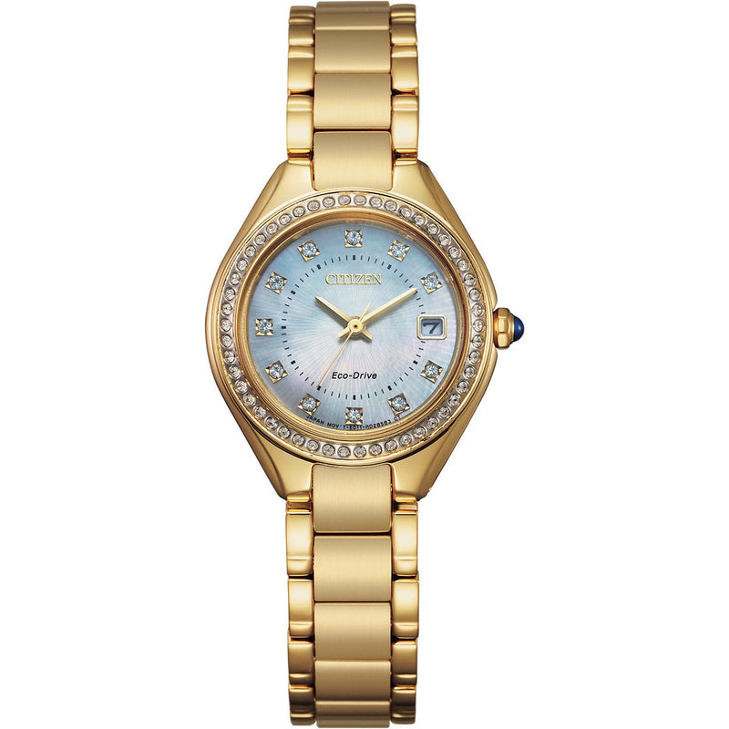 Citizen Ladies Eco Drive Silhouette Crystal Watch EW2552-50D