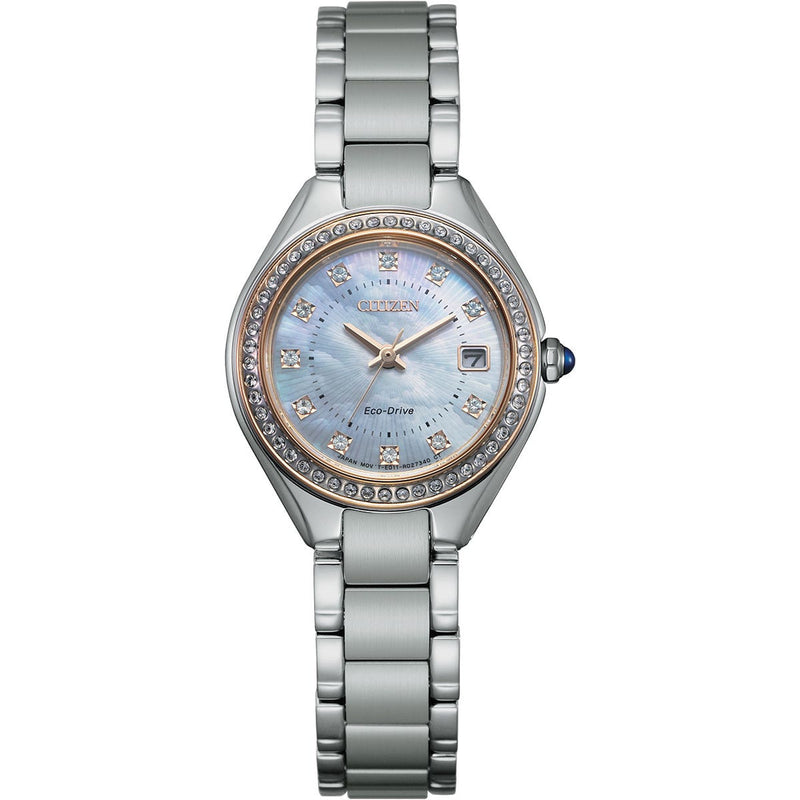 Citizen Ladies Eco Drive Silhouette Crystal Watch EW2556-59Y