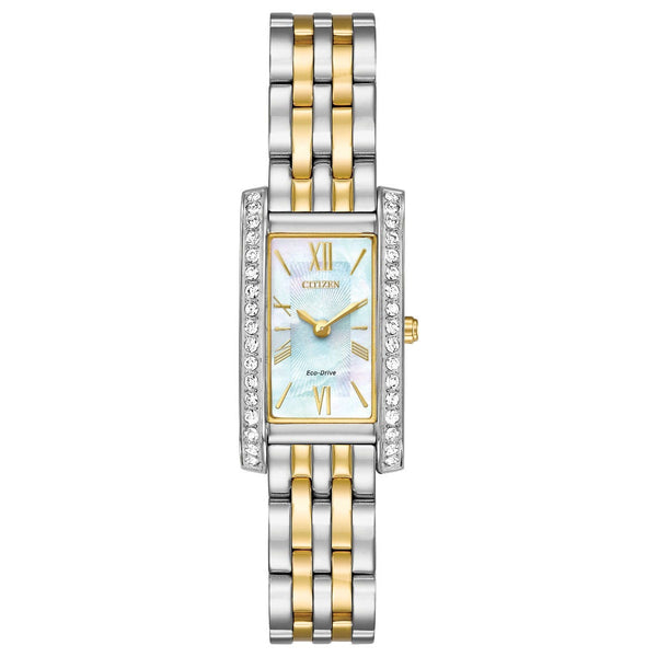 Citizen Ladies Eco Drive Silhouette Crystal Watch EX1474-85D