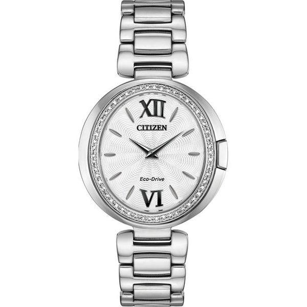 Citizen Ladies Eco Drive Capella Diamond Watch EX1500-52A