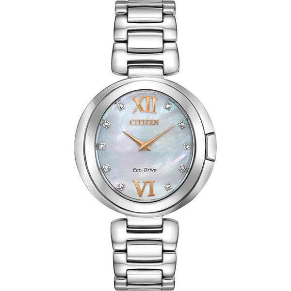 Citizen Ladies Eco Drive Capella Diamond Watch EX1510-59D