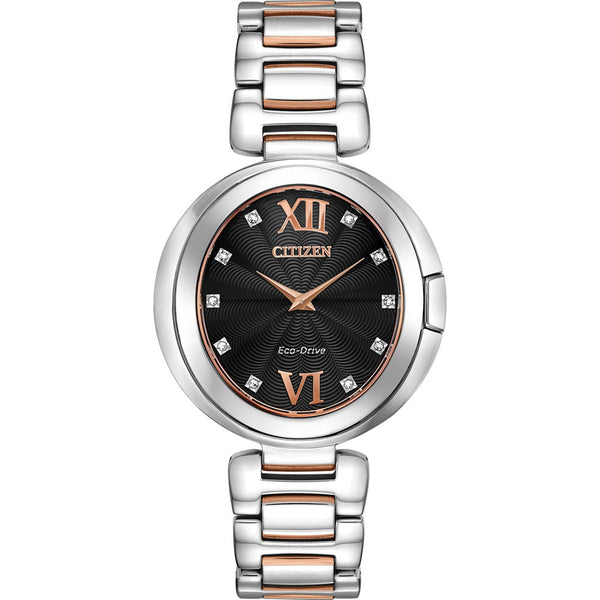Citizen Ladies Eco Drive Capella Diamond Watch EX1516-52E