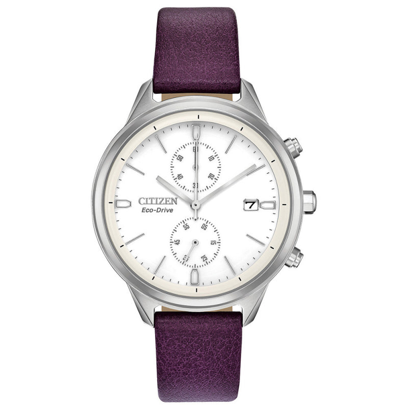 Citizen Eco Drive Ladies Silhouette Chronograph Watch FB2000-11A