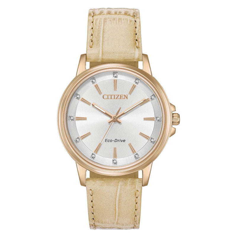 Citizen Eco Drive Ladies Silhouette Crystal Watch FE7033-08A