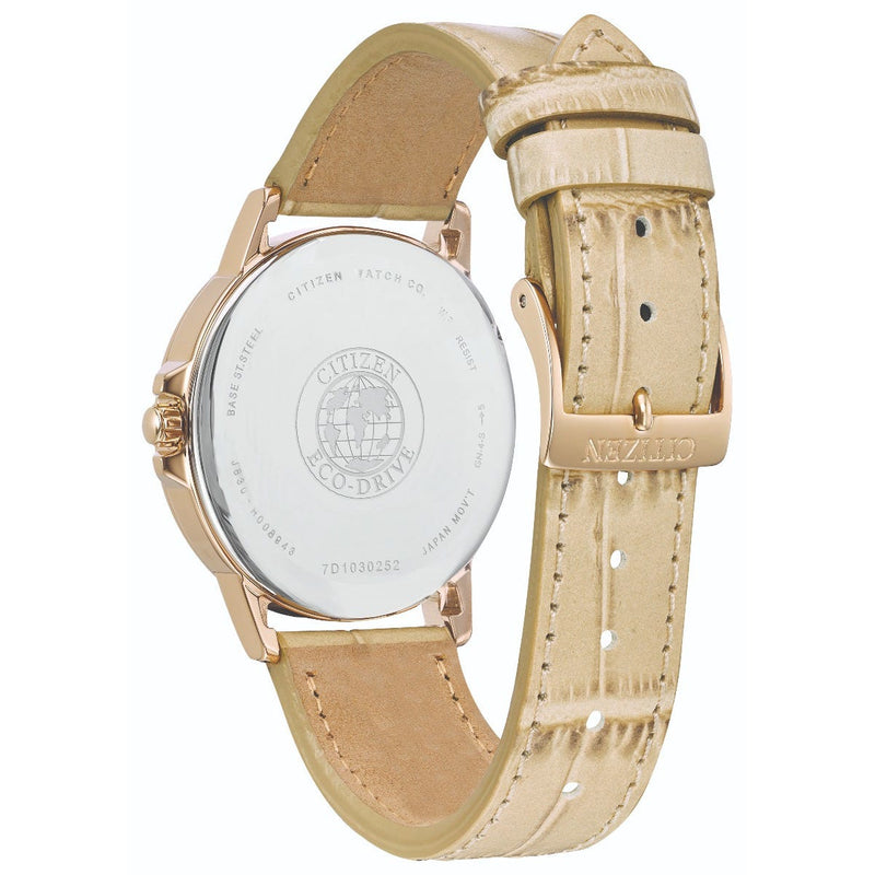 Citizen Eco Drive Ladies Silhouette Crystal Watch FE7033-08A back