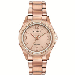 Citizen Eco Drive Ladies Rose Bracelet Watch FE7053-51X
