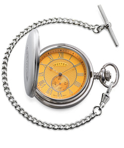 Dalvey Full Hunter Pocket Watch Ochre 03344