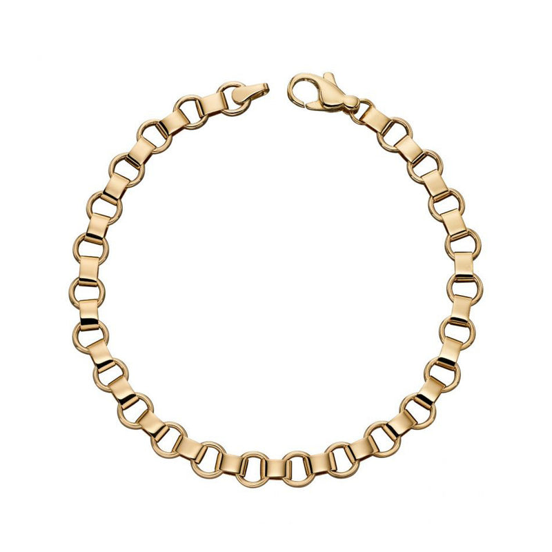 9ct Yellow Multi Circle Link Bracelet