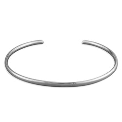 Sterling Silver 3mm Wire Cuff Bangle