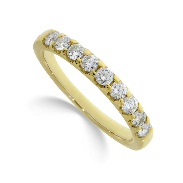Diamond Eternity Ring 1.00ct Bar Set 14ct Gold